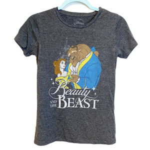 Disney's Beauty and the Beast Graphic Gray T-Shirt